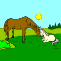 HORSE AND FOAL - Emppu, 11