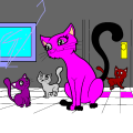 Cat family - Emelie, 4